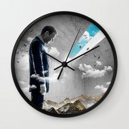 Concrete Landscape Wall Clock