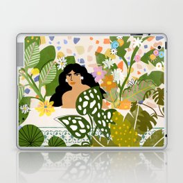 Bathing with Plants Laptop & iPad Skin