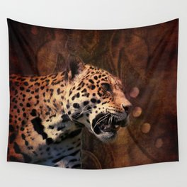 rustic wild  leopard leather texture pattern  Wall Tapestry