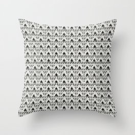 Geometric Triangle Shapes Modern Monochrome Minimalism Throw Pillow