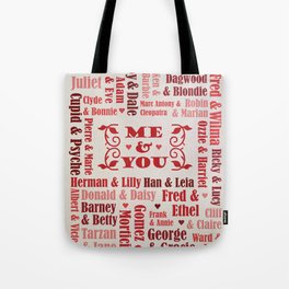 Great Couples in History Tote Bag