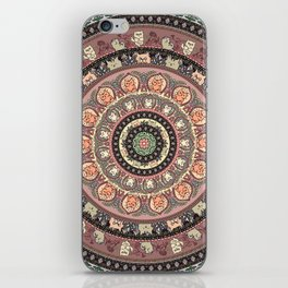 Cat Yoga Medallion iPhone Skin