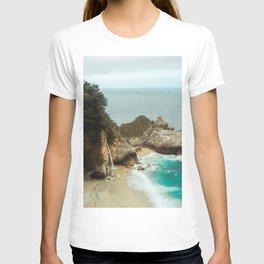 McWay Falls   Big Sur California Waterfall Ocean Coastal Travel Photography T-shirt