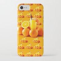 orange pattern iPhone & iPod Cases featuring Orange Pattern by Azeez Olayinka Gloriousclick