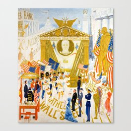 The Cathedrals of Wall Street by Florine Stettheimer, 1939 Canvas Print