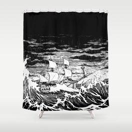 Galleon (line) Shower Curtain