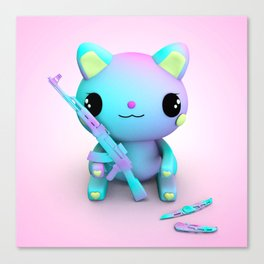 Pastel Kitty Canvas Print