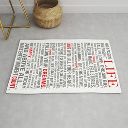 All about life Rug