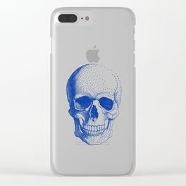 Blue skull Clear iPhone Case