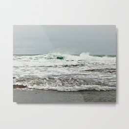 Sea Breaks on the Tidal Shelf Metal Print