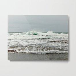 Sea Breaks on the Tidal Shelf Metal Print