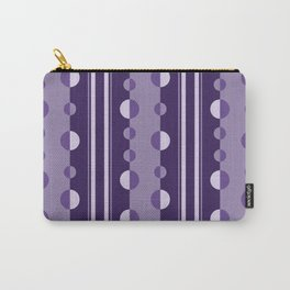 Modern Circles and Stripes in Violet Carry-All Pouch