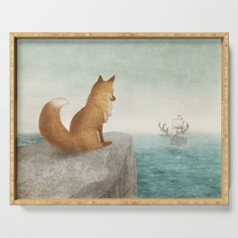 The Day the Antlered Ship Arrived Serving Tray