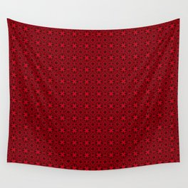Muster - rote Metallsterne Wall Tapestry