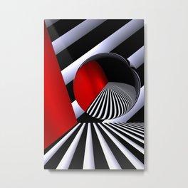 red white black -21- Metal Print