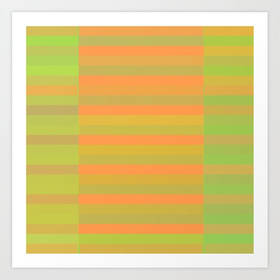 Peachy Stripes Art Print
