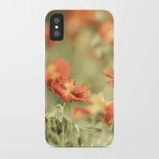 Field of Orange iPhone X Slim Case