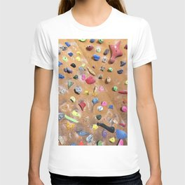 Wooden boulders climbing gym bouldering photography T-shirt