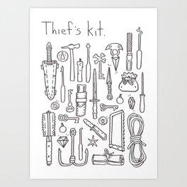 Thief's  Kit Art Print