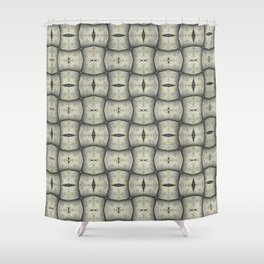Silver Tracery Shower Curtain