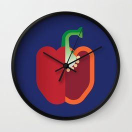 Vegetable: Bell Pepper Wall Clock