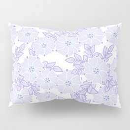 violet lili flowers pattern Pillow Sham