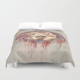 Sad Jellyfish Duvet Cover