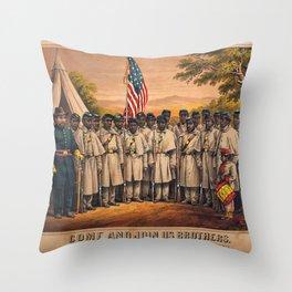 1863 Philadelphia, Pennsylvania African American Civil War Requirement Broadside Advertisement Poste Throw Pillow
