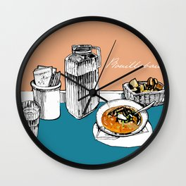 Bouillabaisse Wall Clock