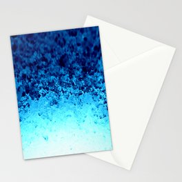 Blue Crystal Ombre Stationery Cards