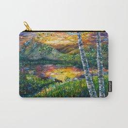 Sleeping Meadow  - Colorado Moose Crossing  Carry-All Pouch