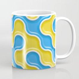 Yellow Blue Truchet Tilling Pattern Coffee Mug