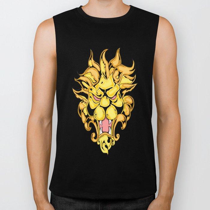Golden Lion Biker Tank