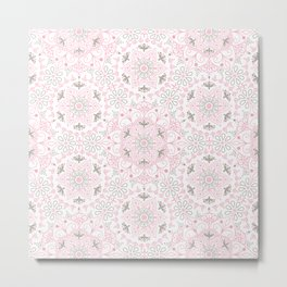 Mandala_Rose-Warm Gray Metal Print