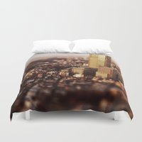 tokyo Duvet Covers featuring Tokyo by Sushibird