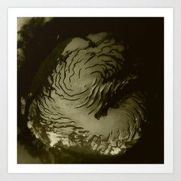 Nasa Picture 17: Mars north polar (true colors) Art Print