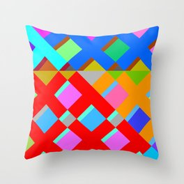 Cubic Quilt Pattern  Throw Pillow