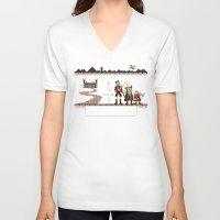 aragorn V-neck T-shirts featuring Aragorn Trail by Drew Brockington