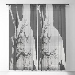 Wild Hunt Sheer Curtain