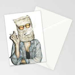 Brown Baggin' It Stationery Cards