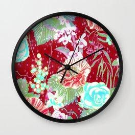 red boho 2018 Wall Clock