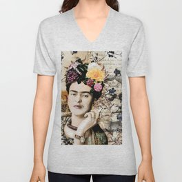 Dear Diego - Frida Kahlo digital portrait Unisex V-Neck