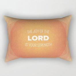 The Joy of the Lord - Nehemiah 8:10 Rectangular Pillow