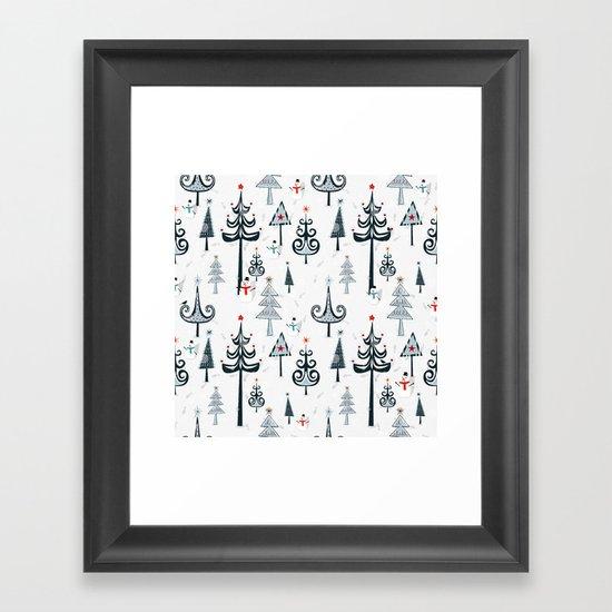Christmas Tree Forest Framed Art Print