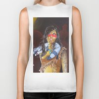 pocahontas Biker Tanks featuring pocahontas by marmaseo