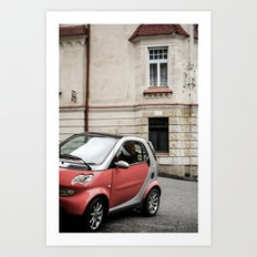 Red car in Marienbad Art Print