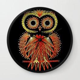 String Art Owl Wall Clock
