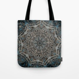 Blue and black Center Swirl Tote Bag