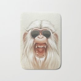 The Great White Angry Monkey Bath Mat