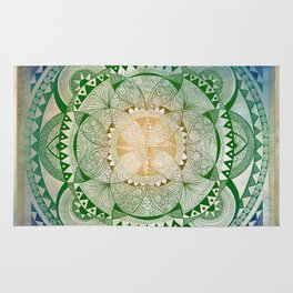 Metta Mandala, Loving Kindness Meditation Rug